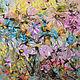 """Картины цветов ручной работы. Ярмарка Мастеров - ручная работа. Купить """"Ветреный сад"""" 60х60 см картина маслом мастихином цветы розовая. Handmade."""