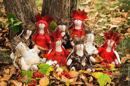 Куклы Тильды ручной работы. Ярмарка Мастеров - ручная работа. Купить Зайцы индейцы. Handmade. Комбинированный, зайка в одежде
