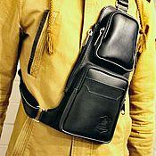 Мужская сумка ручной работы. Ярмарка Мастеров - ручная работа Мужская сумка: Кожаная мужская сумка. Handmade.