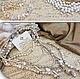 Авторские украшения изделия из натурального жемчуга дизайнера Светланы Молодых красивые модные оригинальные классические жемчужные колье бусы ожерелья ручной работы купить в интернет магазине в Москве