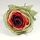 Броши ручной работы. Ярмарка Мастеров - ручная работа. Купить Андалусская Роза. Брошь - цветок.. Handmade. Бордовый, зеленый