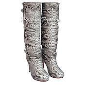 Обувь ручной работы handmade. Livemaster - original item Boots made from Python NAINA. Handmade.