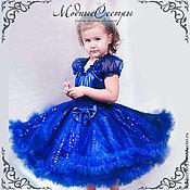 Работы для детей, handmade. Livemaster - original item Baby dress Queen blue Art.213. Handmade.