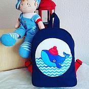 Сумки и аксессуары ручной работы. Ярмарка Мастеров - ручная работа Детский рюкзак с китом. Handmade.