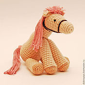Куклы и игрушки ручной работы. Ярмарка Мастеров - ручная работа Лошадка амигуруми вязаная. Handmade.