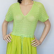 Одежда handmade. Livemaster - original item dress cotton-bamboo-linen-silk