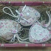 Для дома и интерьера ручной работы. Ярмарка Мастеров - ручная работа Шебби-сердечки подвески. Handmade.