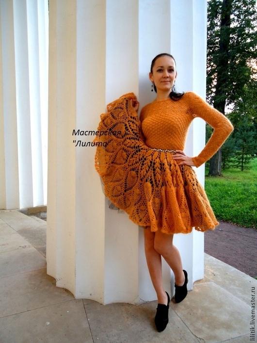"""Платья ручной работы. Ярмарка Мастеров - ручная работа. Купить """"Золотая осень"""". Handmade. Рыжий, пышная юбка"""