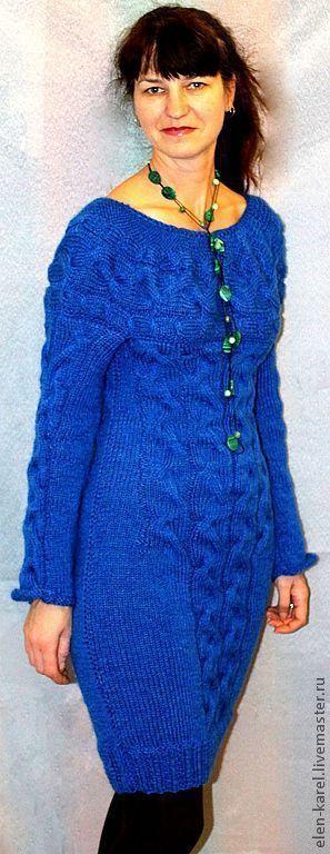 Платья ручной работы. Ярмарка Мастеров - ручная работа. Купить Синяя радость Платье. Handmade. Тёмно-синий, платье из мохера