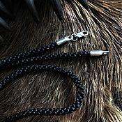 Украшения handmade. Livemaster - original item Cord with smooth silver lock. Handmade.