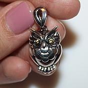 Материалы для творчества handmade. Livemaster - original item The owl pendant is Nickel silver with silver 925. Handmade.
