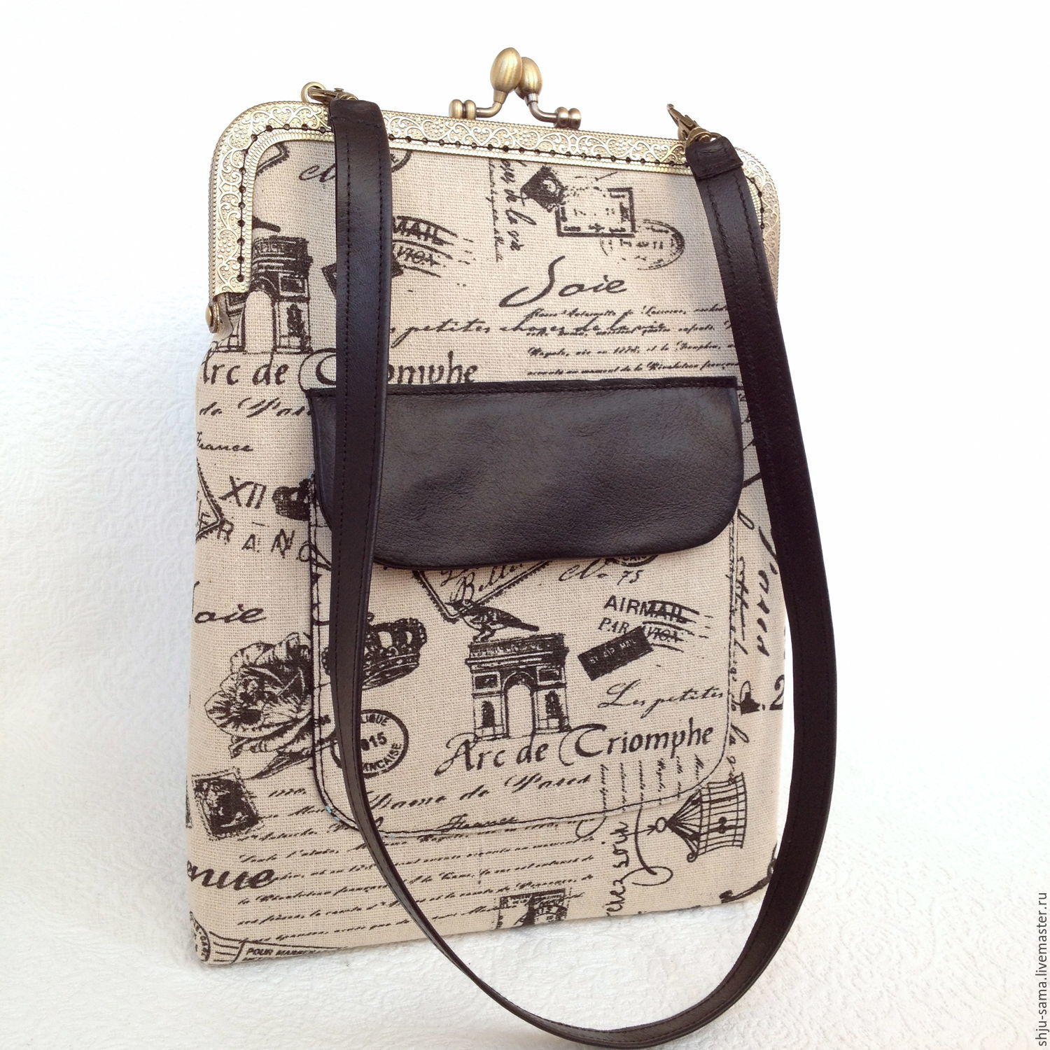 Bag-tablet 'I Want to Paris!' on the clasp, Tablet bag, Moscow,  Фото №1