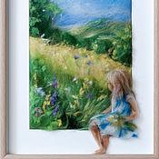 Картины и панно ручной работы. Ярмарка Мастеров - ручная работа Луга. Handmade.