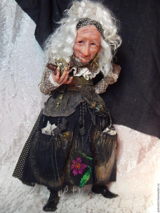 Коллекционные куклы ручной работы. Ярмарка Мастеров - ручная работа. Купить БАБА ЯГА     И снова седая ночь, И только ей доверяю я.. Handmade.