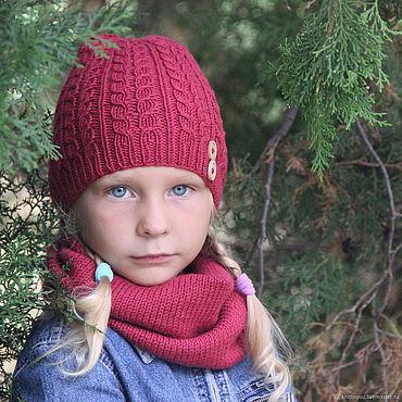Works for children handmade. Livemaster - original item Knitted hat and sojuznoe work