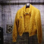 Одежда handmade. Livemaster - original item The bomber jacket ( the color of mustard ). Handmade.