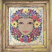 Картины и панно handmade. Livemaster - original item Painting embroidered cross