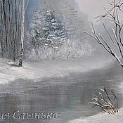 Картины и панно handmade. Livemaster - original item Oil painting Winter river. Handmade.