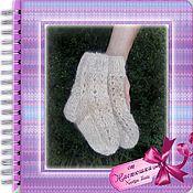 Аксессуары handmade. Livemaster - original item Openwork children`s socks made of dog hair 16-17 cm. Handmade.