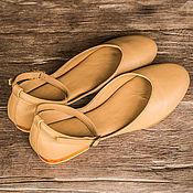 Обувь ручной работы handmade. Livemaster - original item Ballet flats leather Fluffy. Handmade.