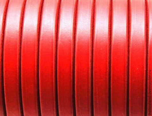 Для украшений ручной работы. Ярмарка Мастеров - ручная работа. Купить Кожаный шнур REGALIZ красный. Handmade. Регализ