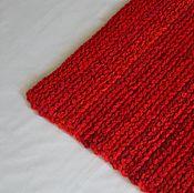 """Для дома и интерьера ручной работы. Ярмарка Мастеров - ручная работа коврик дорожка вязаный """"Яркий Красный"""". Handmade."""