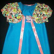 """Работы для детей, ручной работы. Ярмарка Мастеров - ручная работа """"Бирюза"""". Платье для девочки. Handmade."""