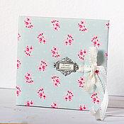 Свадебный салон ручной работы. Ярмарка Мастеров - ручная работа Книга пожеланий Голубое с розовым. Handmade.