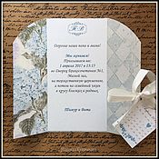 Свадебный салон handmade. Livemaster - original item Wedding invitation Nektar with calendar. Handmade.