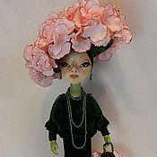 Куклы и игрушки ручной работы. Ярмарка Мастеров - ручная работа Интерьерная текстильная кукла - цветок Гортензия.. Handmade.