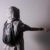 Рюкзаки ручной работы. Ярмарка Мастеров - ручная работа Чёрный женский рюкзак из экокожи Hobo. Handmade.