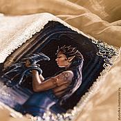 """Канцелярские товары ручной работы. Ярмарка Мастеров - ручная работа Кожаная обложка для паспорта """"Ручной дракон"""". Handmade."""