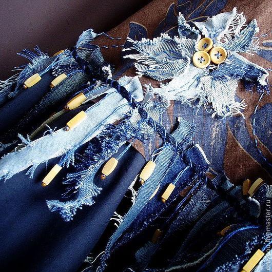 Юбки ручной работы. Ярмарка Мастеров - ручная работа. Купить Юбка «Модная свобода». Handmade. Синий, юбка длинная, голубой