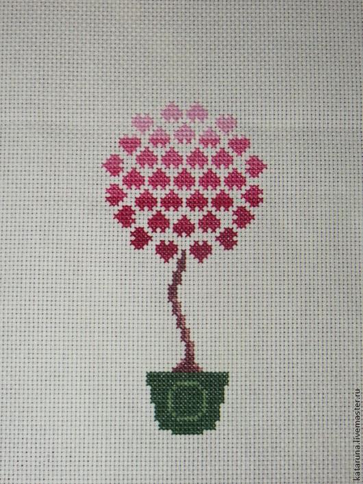 """Вышивка ручной работы. Ярмарка Мастеров - ручная работа. Купить Мини вышивка """"Дерево любви"""". Handmade. Мини вышивка"""