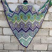Аксессуары handmade. Livemaster - original item Shawl Big Jasmine Natural Wool Author`s Work. Handmade.