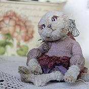 Куклы и игрушки ручной работы. Ярмарка Мастеров - ручная работа Котенок тедди Леа. Handmade.