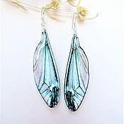 Украшения handmade. Livemaster - original item Transparent Wings Earrings Dragonfly Butterfly Insects Epoxy Resin. Handmade.