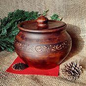 Русский стиль handmade. Livemaster - original item Clay pot for baking. Handmade.