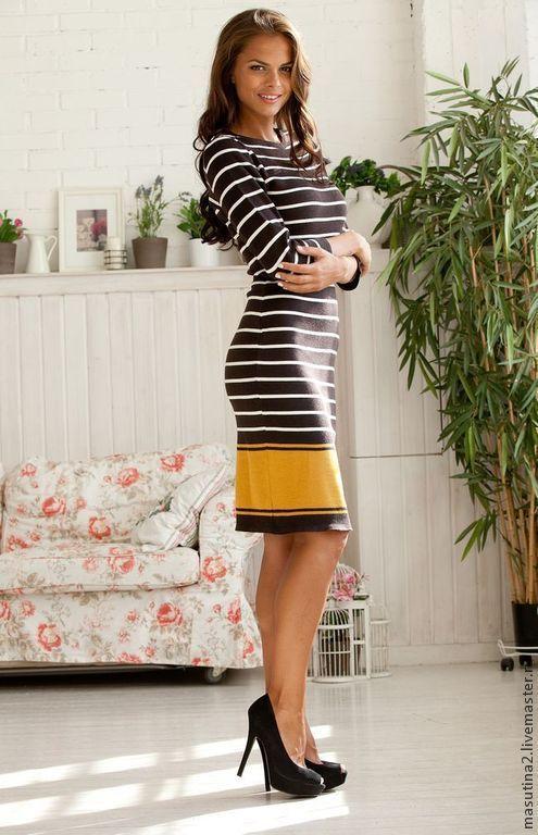 """Платья ручной работы. Ярмарка Мастеров - ручная работа. Купить Платье """"Zebra"""". Handmade. Чёрно-белый, платье на заказ"""