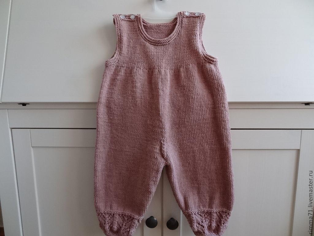 Одежда ручной работы. Ярмарка Мастеров - ручная работа. Купить Теплый полукомбинезон для новорожденного. Handmade. Комбинезон, полукомбинезон, комбинезон теплый