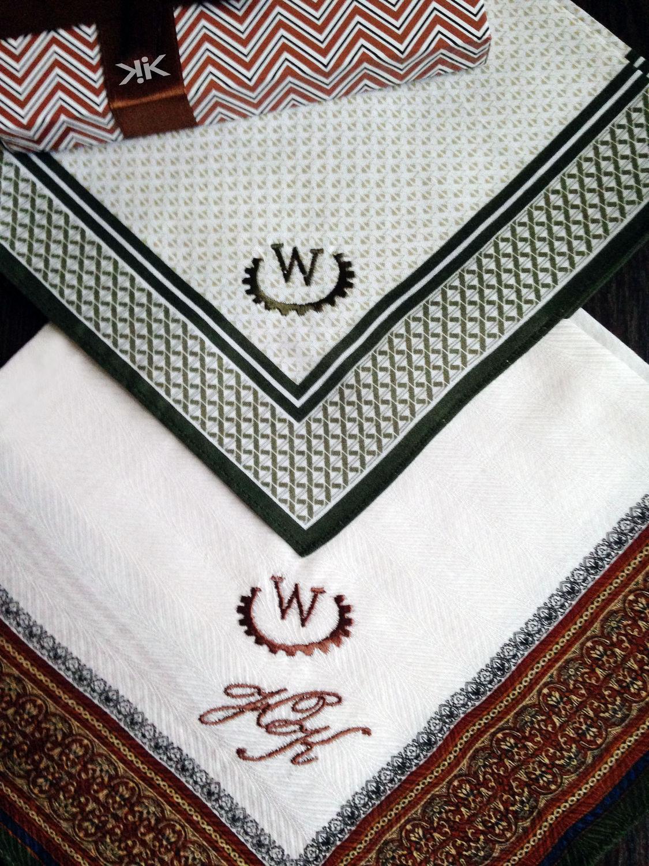 Handkerchiefs men's Luxury embroidered Monogram Monogram. mybroidery.
