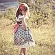 Одежда для девочек, ручной работы. Ярмарка Мастеров - ручная работа. Купить Платье сарафан для девочки Принцесса винтаж. Handmade. цветочный