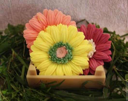 Любимые цветы- Гербера. Подарки к праздникам. 8 марта. Подарки для женщин. Мыльные цветы. Edenicsoap.