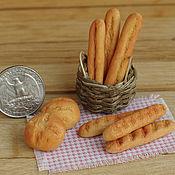 Куклы и игрушки ручной работы. Ярмарка Мастеров - ручная работа Хлебобулочные изделия - хлеб, батон, багет. Handmade.