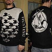 Одежда ручной работы. Ярмарка Мастеров - ручная работа Тату-свитер -  Рыбалка и Охота. Handmade.