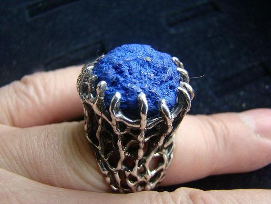 """Кольца ручной работы. Ярмарка Мастеров - ручная работа. Купить Кольцо """"Небо... упавшее в лес"""". Handmade. Синий, лес"""