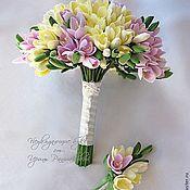 Свадебный салон ручной работы. Ярмарка Мастеров - ручная работа Букет невесты из фрезий. Handmade.