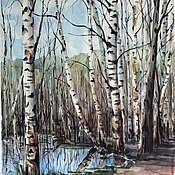 """Картины и панно ручной работы. Ярмарка Мастеров - ручная работа Картина """"Светлое озеро"""". Handmade."""