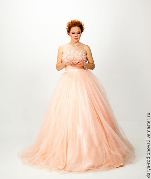 Платья ручной работы. Ярмарка Мастеров - ручная работа. Купить Свадебное или вечернее розовое  платье пастельного оттенка 44р. Handmade.