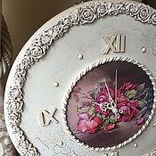 Для дома и интерьера ручной работы. Ярмарка Мастеров - ручная работа Часы настенные Викторианская роза белые. Handmade.